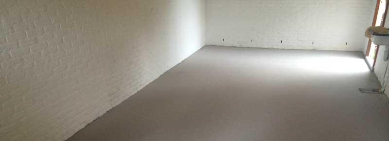 Garagevloer (gietvloer garage) bij particuliere woning Groningen