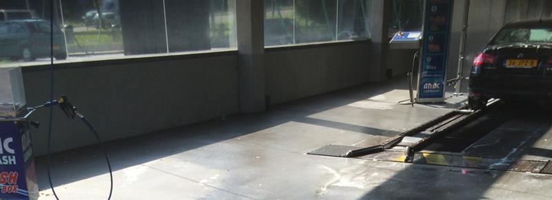 Kunststof gietvloer wasstraat Rotterdam – wasstraatvloer