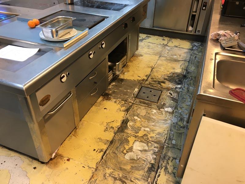Gietvloer Kitchens Keuken : Horeca vloer arnhem u kunststof gietvloer keuken restaurant q