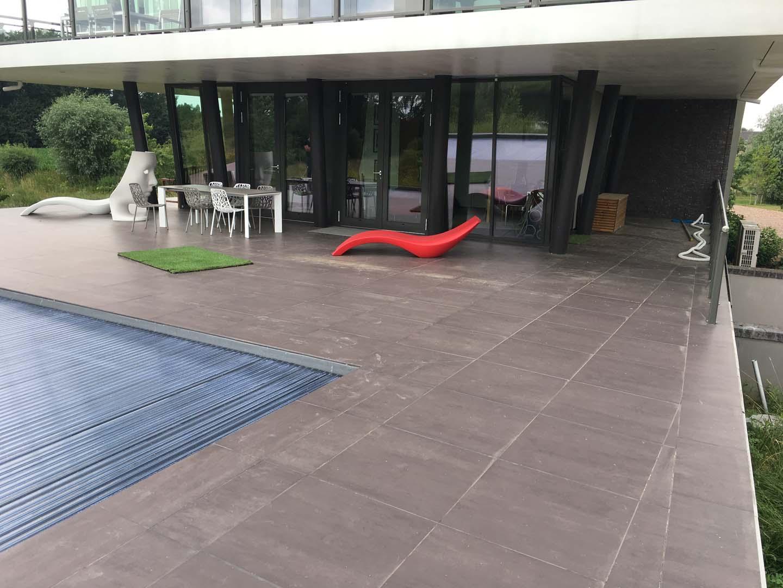 Vloer dakterras appeltern kunststof gietvloer op terras for Zwembad kunststof