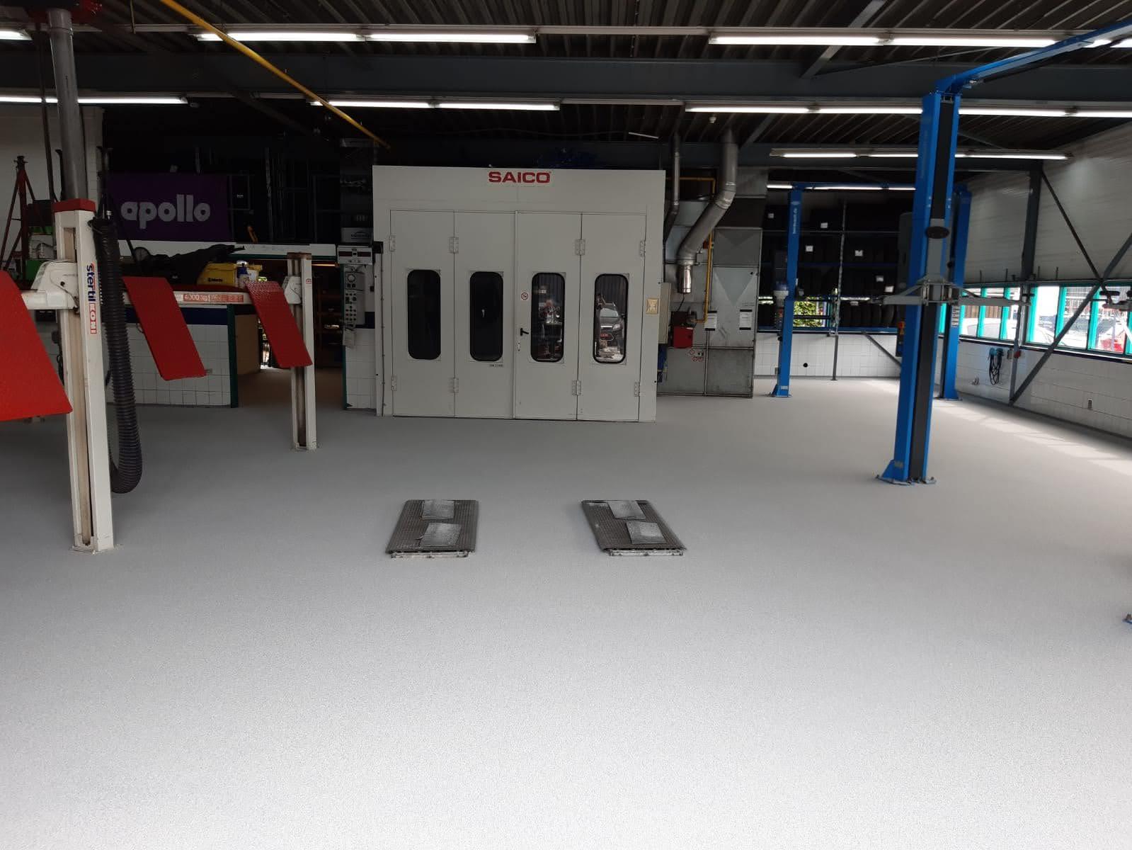Sterke garagevloer autobedrijf Utrecht